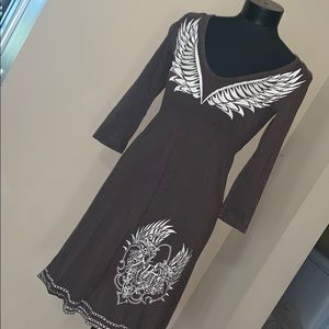 Rock & Roll Cowgirl brown dress size medium